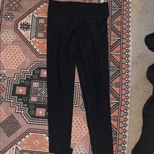 VS XS full length workout black leggings